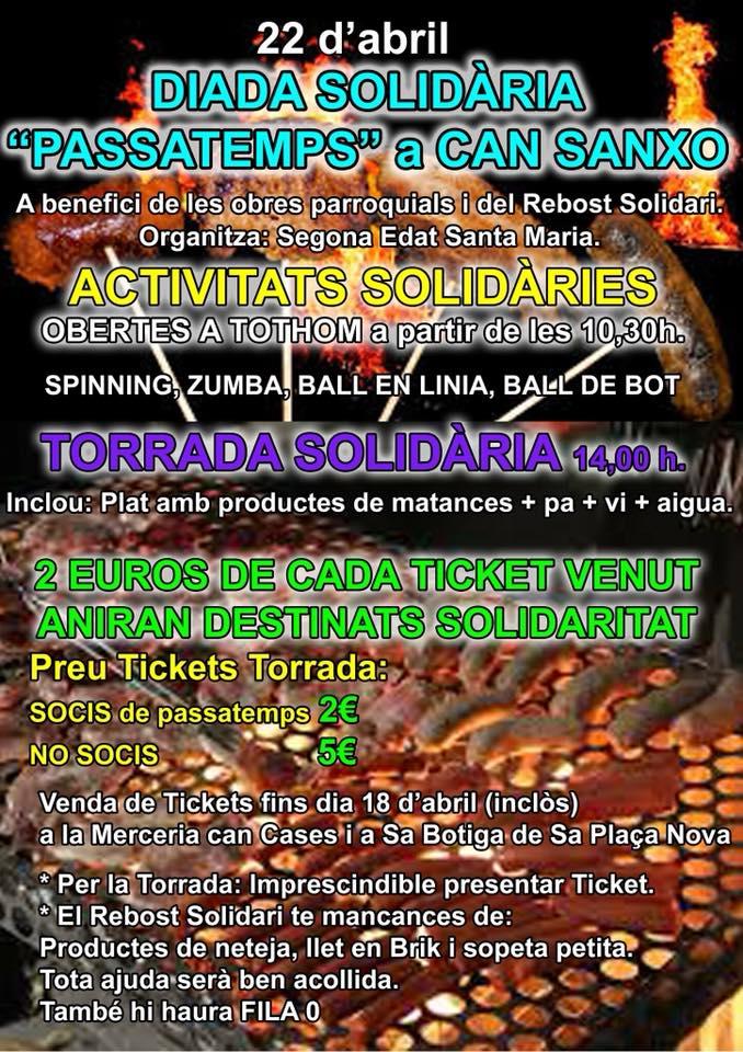 Diada solidària Passatemps - 22 d'abril