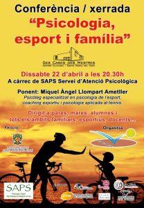 [Conferència] Piscologia, esport i família @ Ses Cases des Mestres