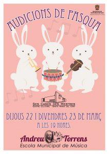 [Música] Audicions de Pasqua - Escola Municipal de Música Andreu Torrens