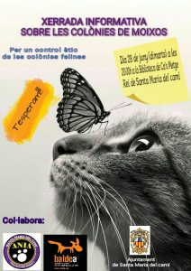 """Xerrada: """"Per un control ètic de les colònies felines"""" @ Biblioteca Cas Metge Rei"""